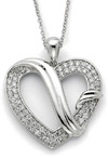 Forever Grateful Sterling Silver Heart Pendant