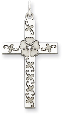 Sterling Silver Posey Cross