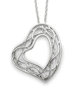 Sterling Silver Amazing Love Heart Pendant