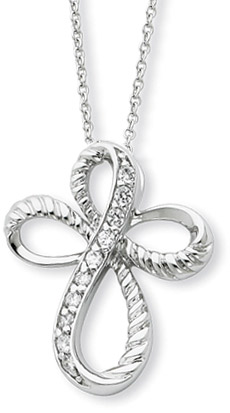 Sterling Silver Endless Hope Pendant with CZ Accents