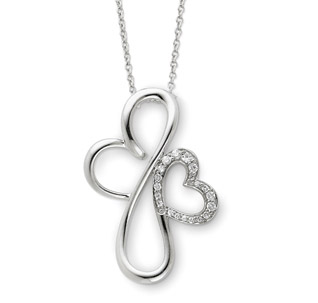 Everlasting Love Necklace in Sterling Silver