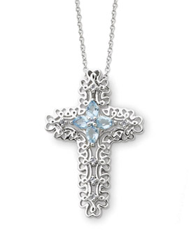 Sterling Silver Message of The Cross Pendant