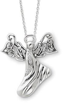 Angel of Hope Pendant in Sterling Silver
