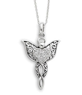 Angel of Blessing Sterling Silver Pendant