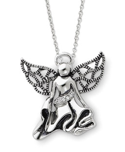 Angel of Gratitude Sterling Silver Pendant