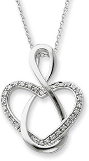Lifetime Friend Sterling Silver Pendant with CZ Accent