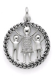 Sterling Silver Knitted Together Pendant