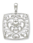 I Care About You Sterling Silver Pendant