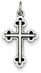 Antiqued Heraldry Cross Pendant in Sterling Silver