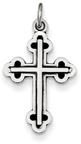 Antiqued Heraldry Cross Pendant in Sterling Silver