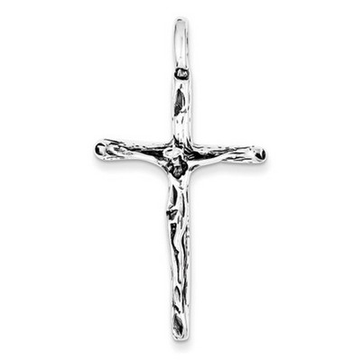 Rugged crucifix pendant in sterling silver aloadofball Images