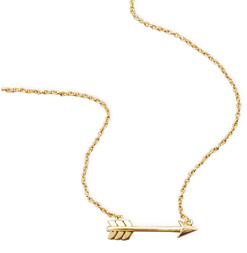 14K Gold Plated Aim High Arrow Necklace