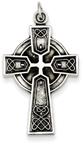 Opulent Celtic Heart Cross Necklace in Sterling Silver