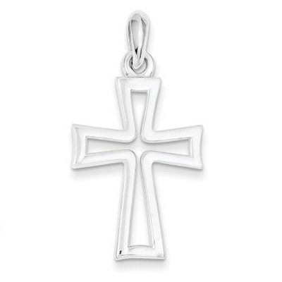 Medieval-Style Cutout Cross Pendant, Sterling Silver