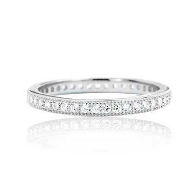 Cubic Zirconia Eternity Band in Sterling Silver