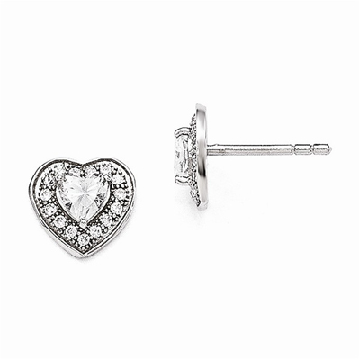 Sterling | Earring | Silver | Heart | Post
