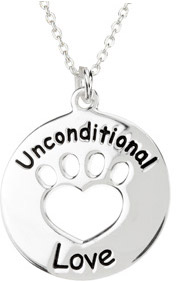 Heart U Back - Unconditional Love Pendant in Sterling Silver