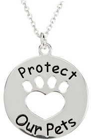 Heart U Back - Protect our Pets Sterling Silver Pendant