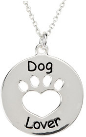 Heart U Back - Dog Lover Paw Pendant in Sterling Silver