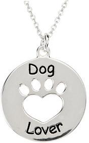 Heart U Back - Dog Lover Paw Pendant in Sterling Silver