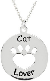 Heart U Back - Cat Lover Pendant in Sterling Silver