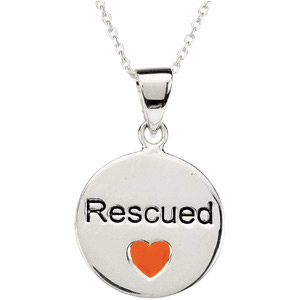Heart U Back - Rescued Pendant in Sterling Silver