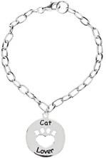 Heart U Back - Cat Lover Bracelet in Sterling Silver