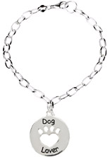 Heart U Back - Dog Lover Bracelet in Sterling Silver