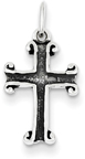 Apostle's Cross Necklace with Antiqued Interior in Sterling Silver