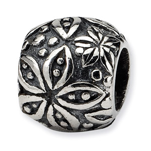 Sterling Silver Floral Bead