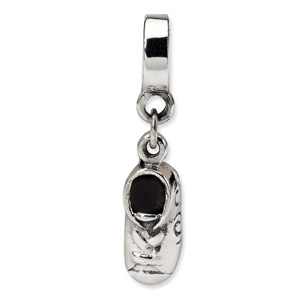 .925 Sterling Silver Baby Shoe Dangle Bead