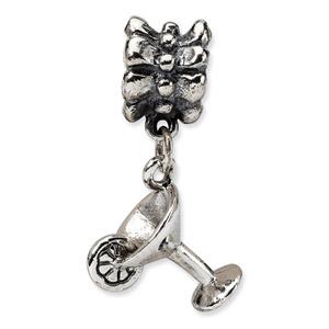Sterling Silver Martini Dangle Bead