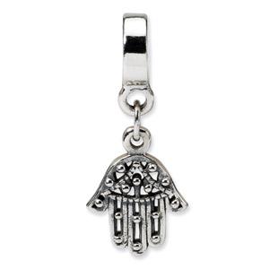 .925 Sterling Silver Chamseh Dangle Bead