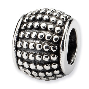 .925 Sterling Silver Bali Bead