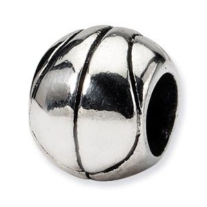 Image of .925 Sterling Silver Basketball Bead