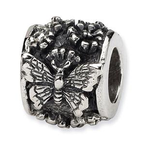 Sterling Silver Butterfly Bali Bead
