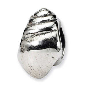 .925 Sterling Silver Conch Shell Bead
