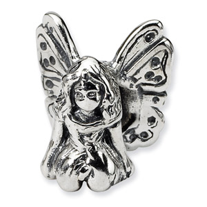 .925 Sterling Silver Fairy Bead