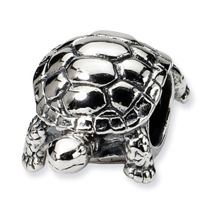 .925 Sterling Silver Turtle Bead