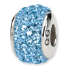 Swarovski March Crystal Bead in Sterling Silver