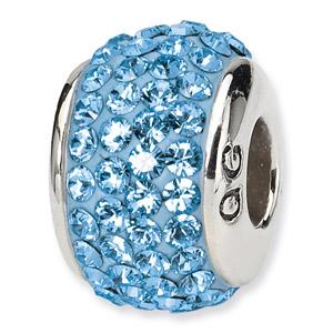Swarovski March Crystal Bead In Sterling Silver