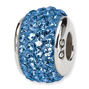 Swarovski September Crystal Bead In Sterling Silver