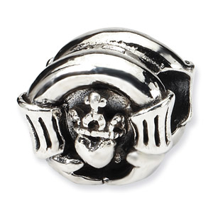 Sterling Silver Claddaugh Bead