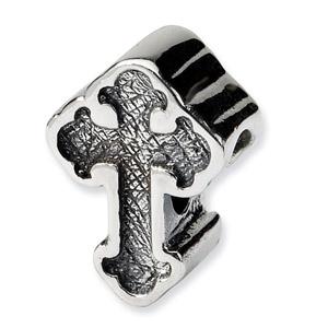.925 Sterling Silver Celtic Cross Bead