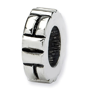 .925 Sterling Silver Notched Spacer Bead