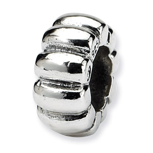 .925 Sterling Silver Scalloped Spacer Bead