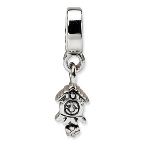 Sterling SIlver Cuckoo Clock Dangle Bead