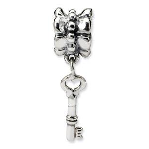 Sterling Silver Key Dangle Bead