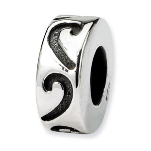 .925 Sterling Silver Stopper Bead