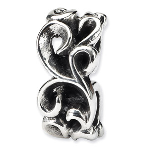 Sterling Silver Scroll Connector Bead